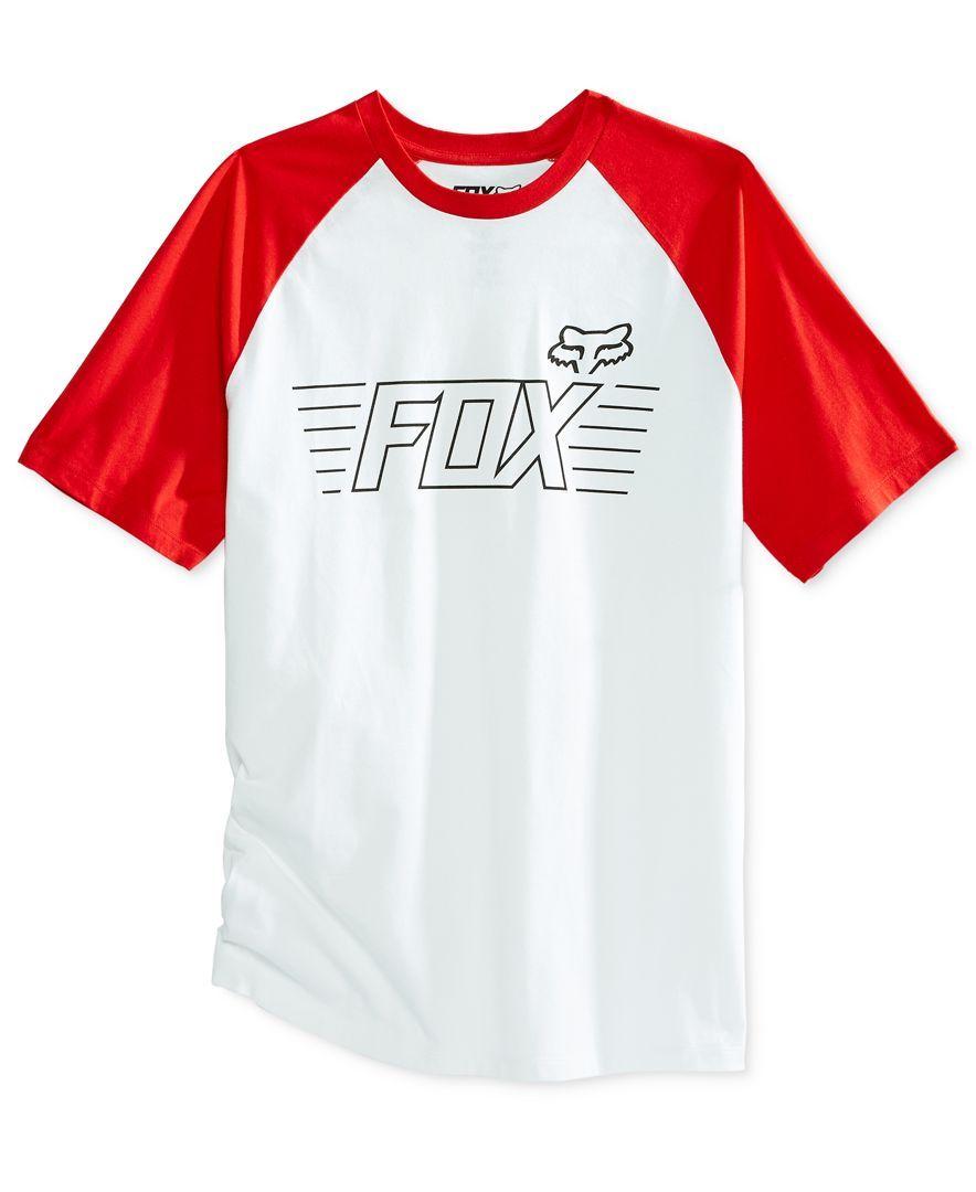 Fox Men's Conjurer Graphic-Print Logo Raglan-Sleeve T-Shirt