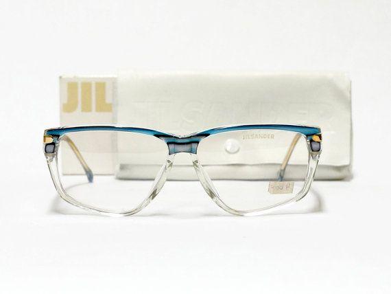 Jil Sander vintage eyewear - mod 215 - vintage designer eyeglasses in unworn deadstock consition