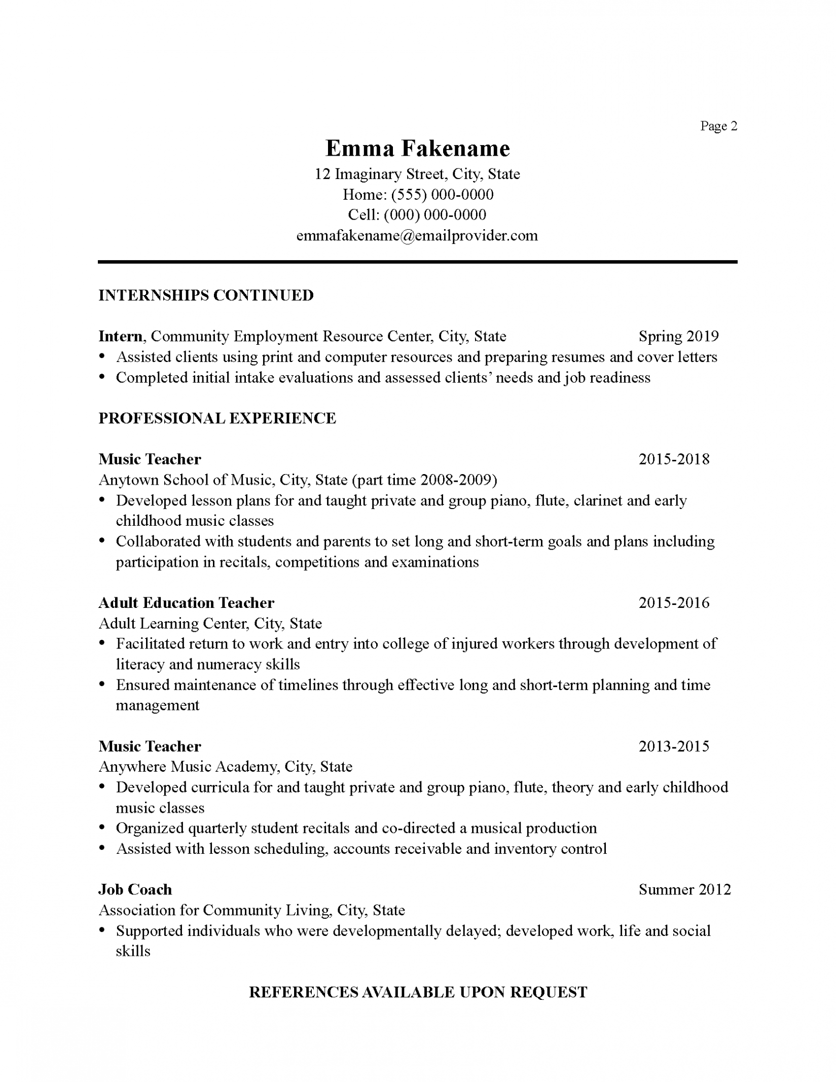13 Job Vacancy Resume Format In 2020 Teacher Cover Letter Example Career Change Resume Resume Examples