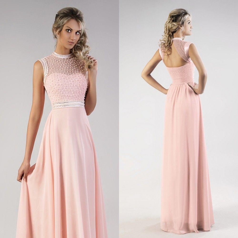 29cb7b35c9 Rózsaszín gyöngyös alkalmi maxiruha | Női divat | Prom dresses ...