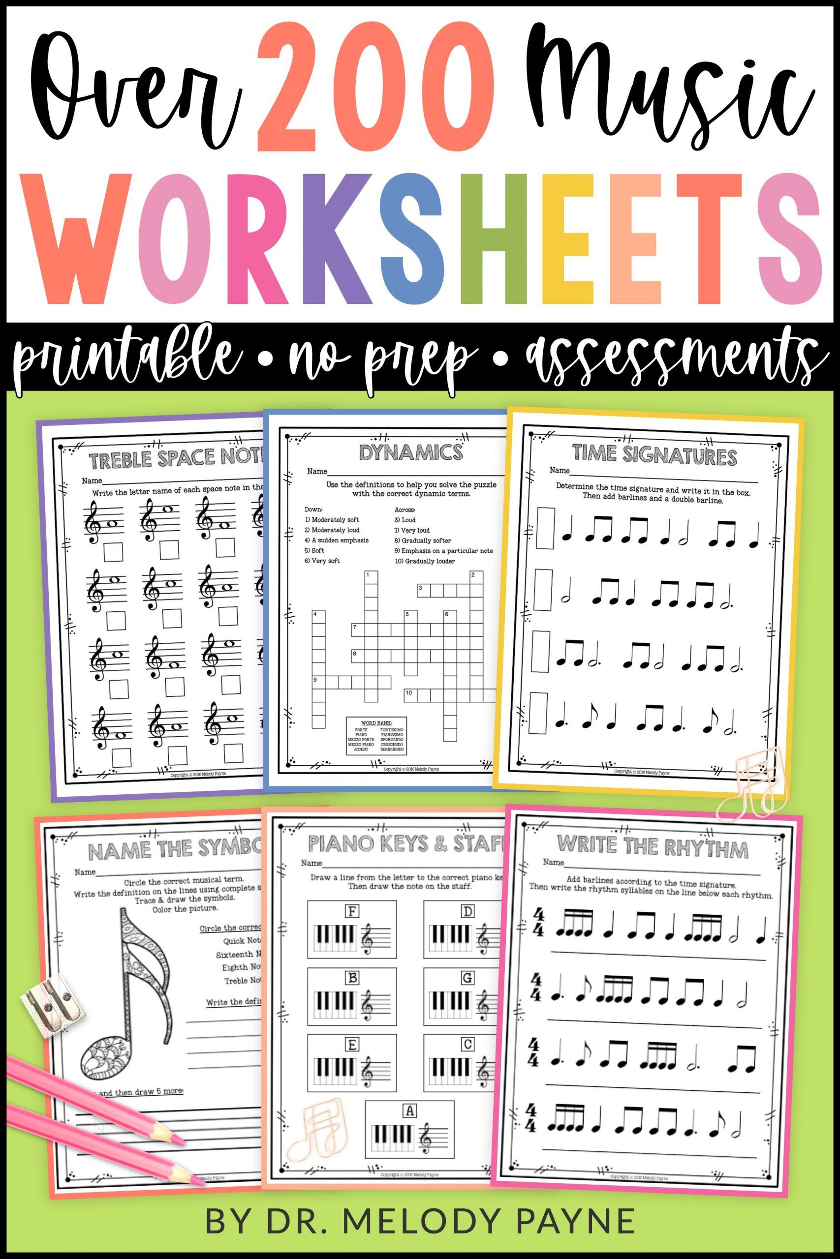 Music Theory Worksheets Over 200 Print And Go No Frills No Prep Pages Melody Payne Music For A Lifetime In 2020 Music Theory Worksheets Music Worksheets Music Vocabulary