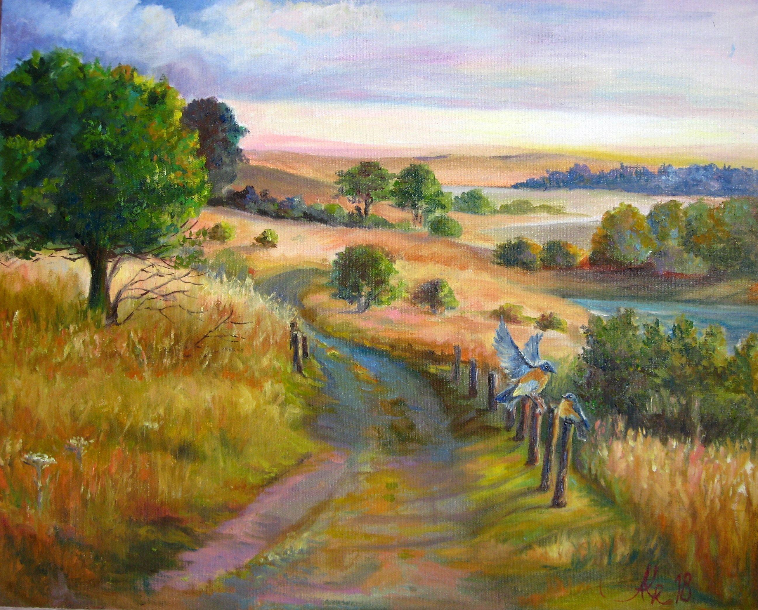 Meadow Painting Original Landscape Oil Painting Nature Wall Art Art Nature Oil Painting Landscape Landscape Art Painting Landscape Art