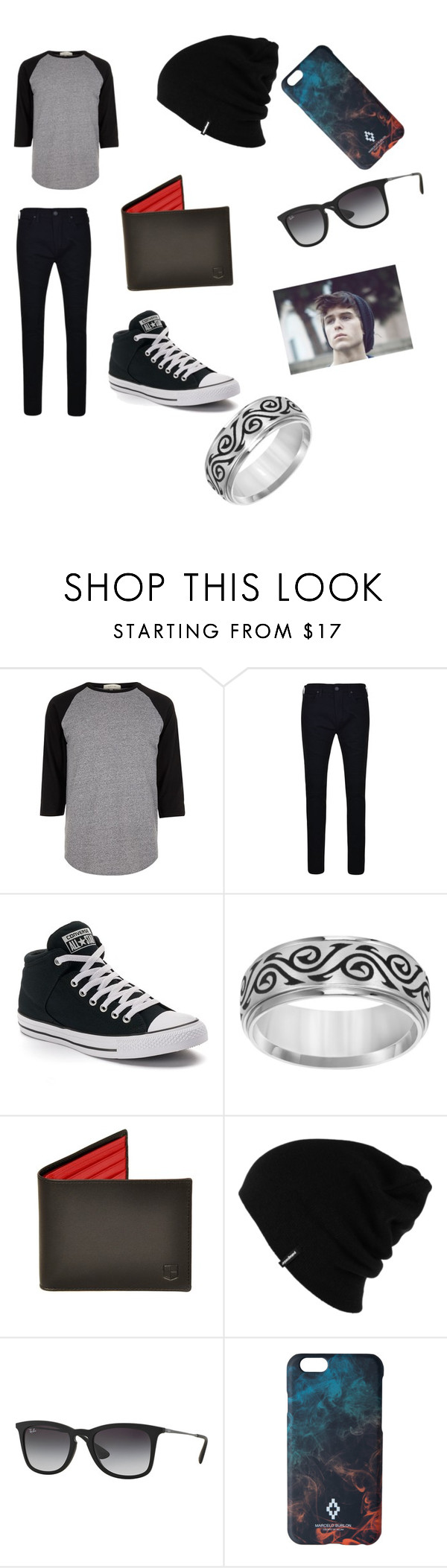 """""""Casual outfit"""" by sassy13styler on Polyvore featuring River Island, True Religion, Converse, Cherish Always, Patagonia, ADAM, Ray-Ban, Marcelo Burlon, men's fashion and menswear"""