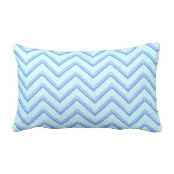 Customisable Chevron Powder Blue Lumbar Pillow 62 Cad Liked On Polyvore Featuring Home Decor Throw Pillows Light