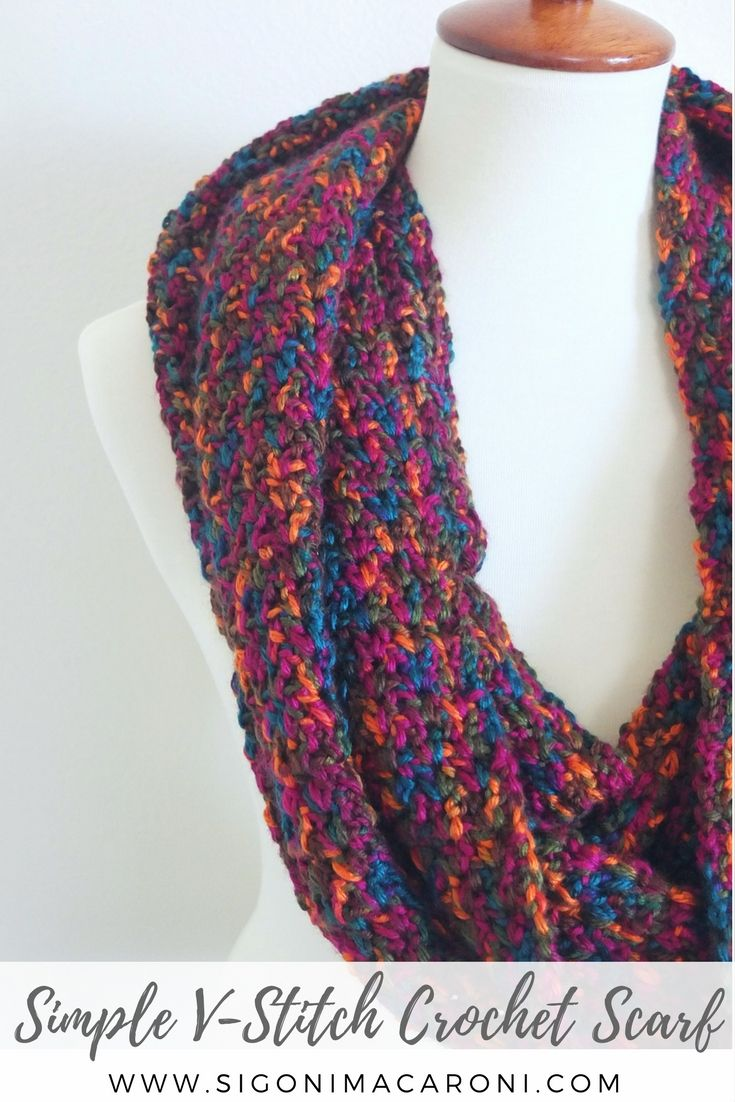 The Simple V-Stitch Crochet Scarf is a free crochet pattern that is ...