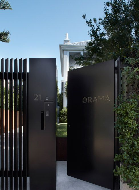Smart Design Studio Orama Fence Ideas Driveway Gate