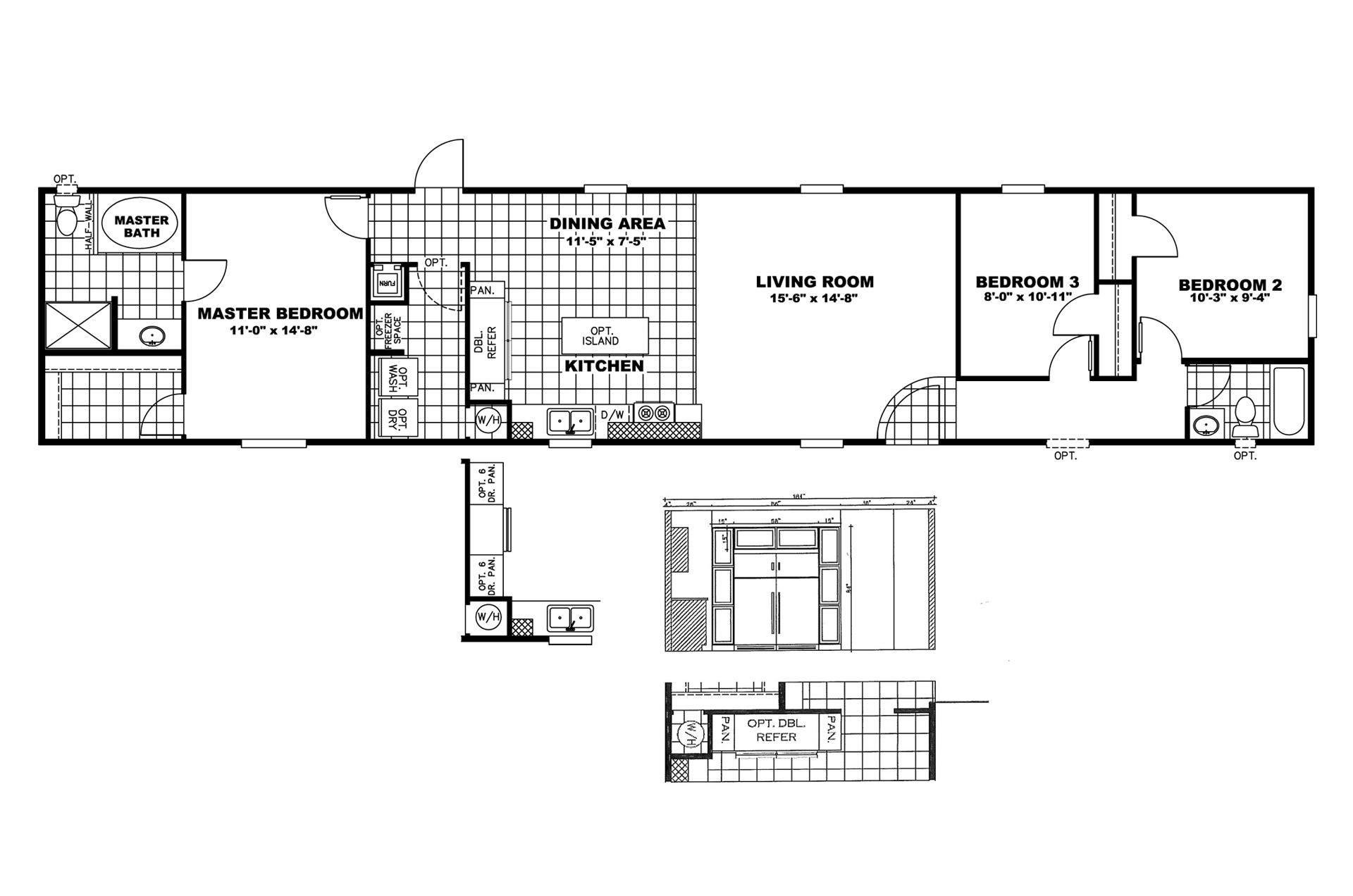 Free Mobile Home Floor Plans: Scotbilt Mobile Home Floor Plans Singelwide