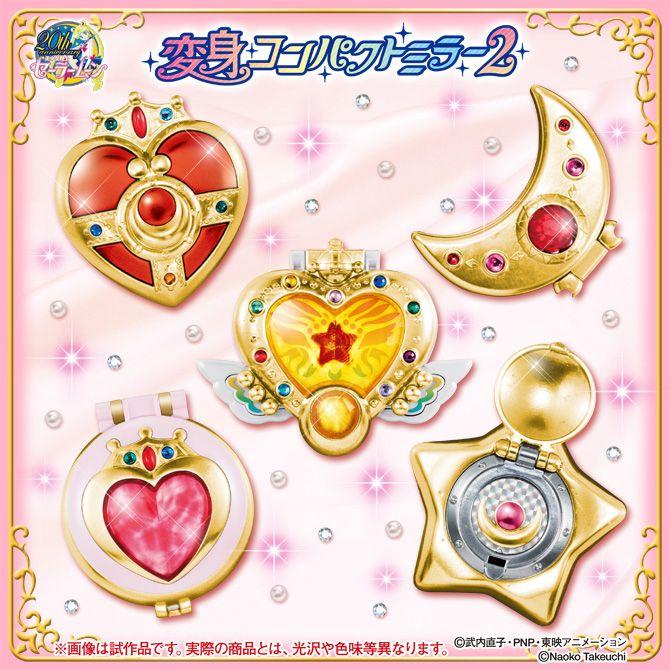 Sailor Moon Capsule goods Makeover brooch mirror