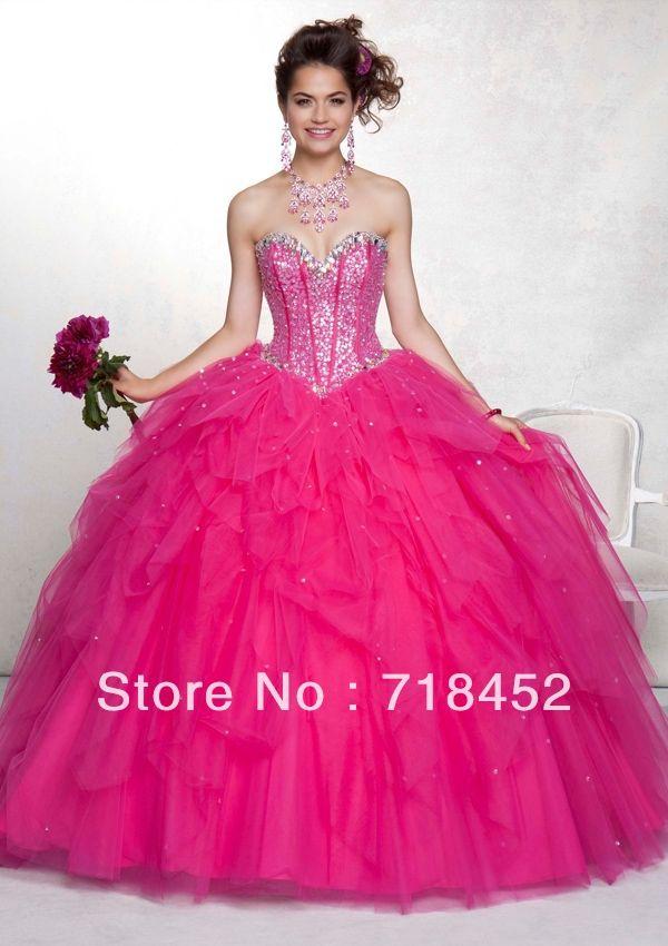 Popular Hot Pink Quinceanera Dresses 2013-Buy Cheap Hot Pink ...