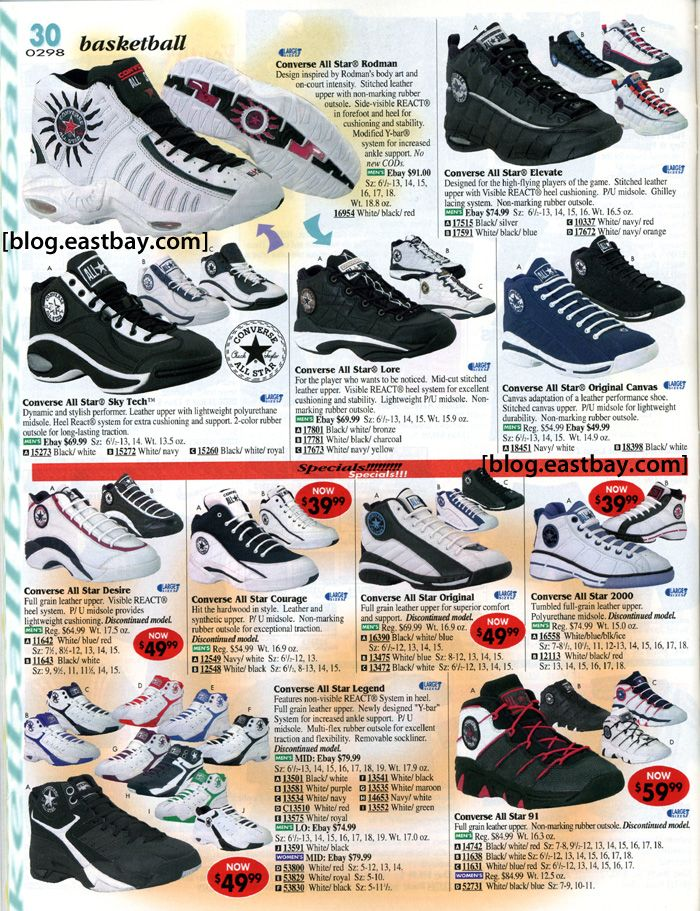 8aa4373c1 Converse Basketball - Eastbay Memory Lane