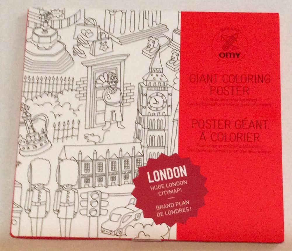 Details about London City Map Giant Coloring Poster Artwork Arts ...