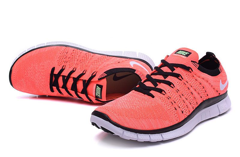 brand new 6a1be ea3c2 Nike Free Flyknit NSW 5.0 Black Light Red