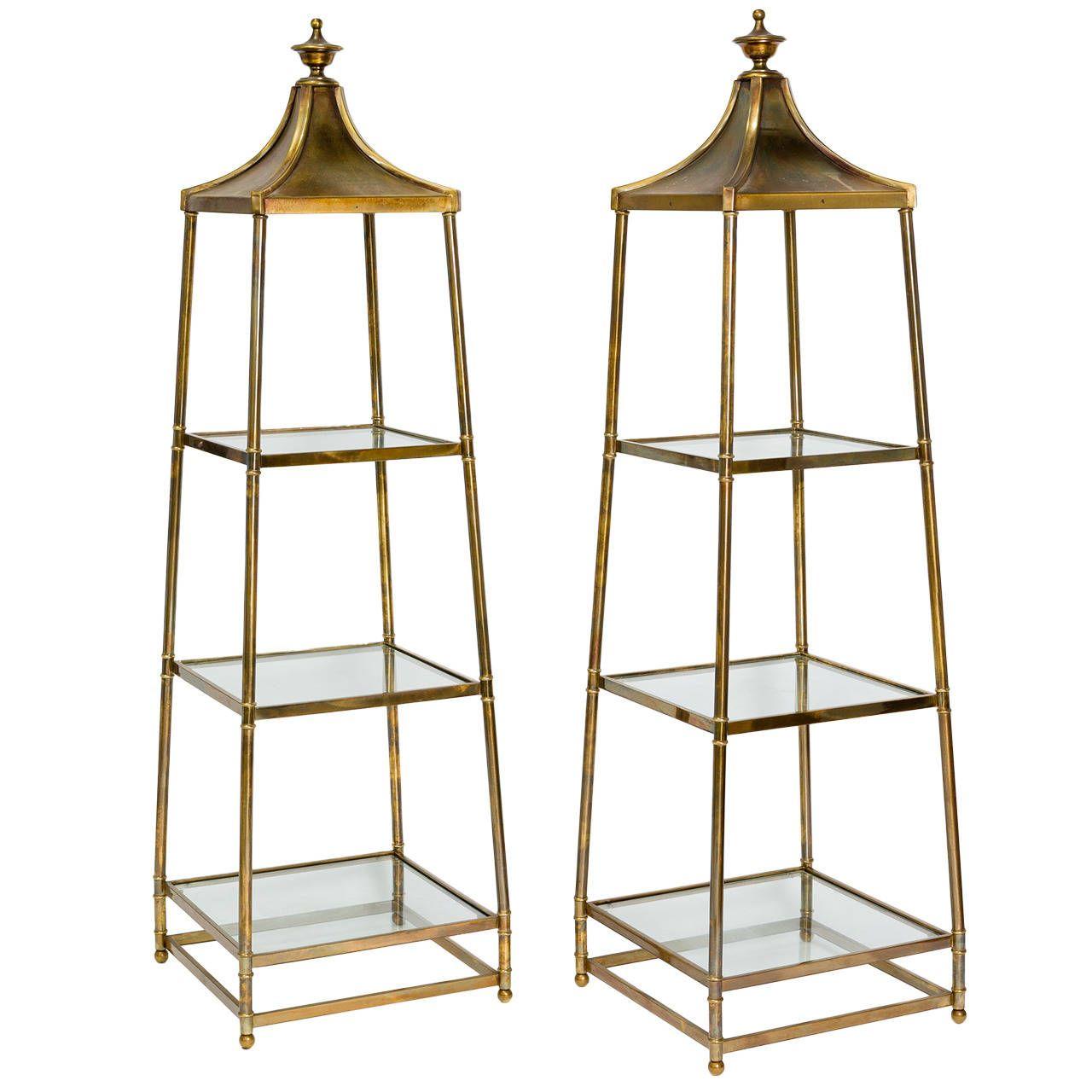 obelisk furniture. Pair Of Mastercraft Brass Obelisk Étagères | 1stdibs.com Furniture .