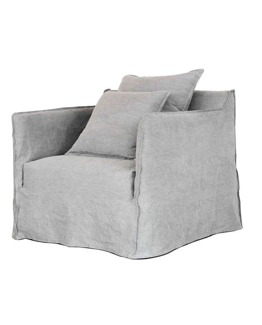 Casper Kopfkissen Casper Removable Linen Armchair Taupe Allissias Attic