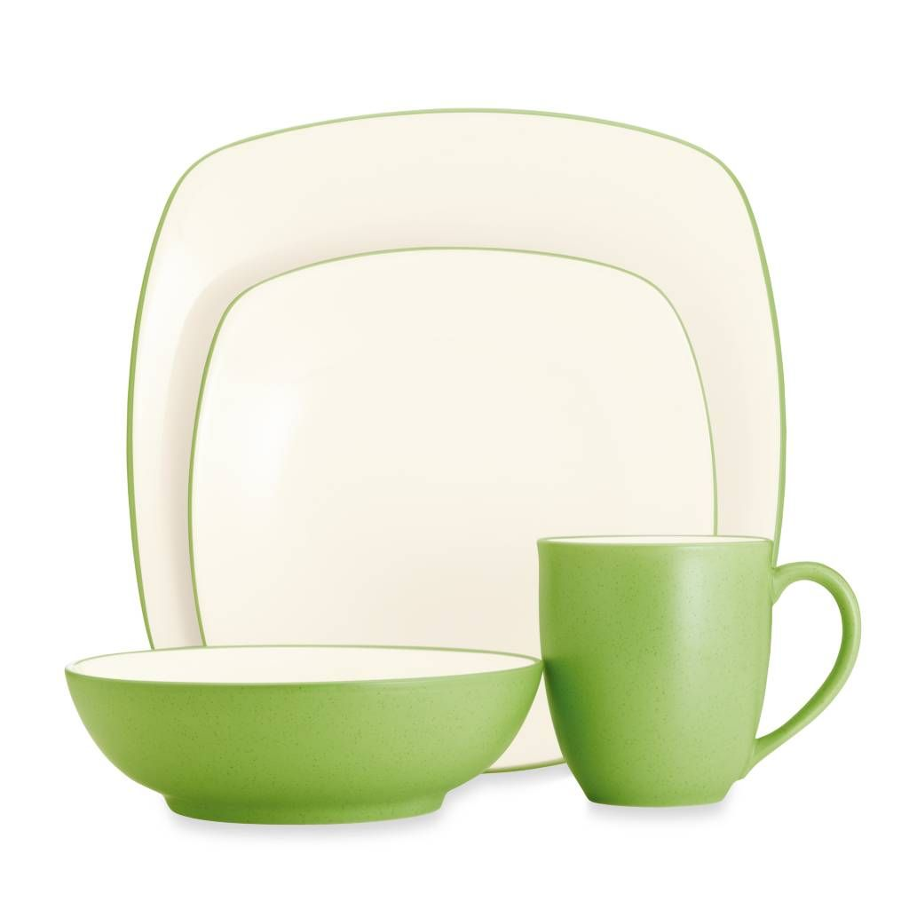 Noritake® Colorwave Square Dinnerware Collection in Green Apple  sc 1 st  Pinterest & Noritake® Colorwave Square Dinnerware Collection in Green Apple ...
