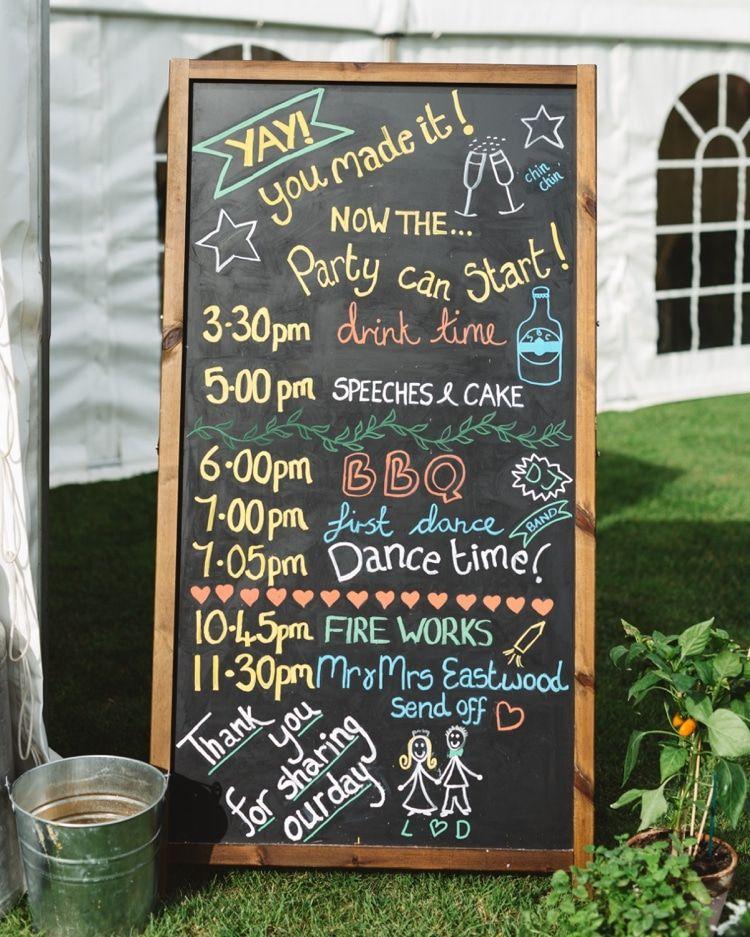 Black Chalk Board Sign Order Day Boho Beer Festival Wedding Http Www