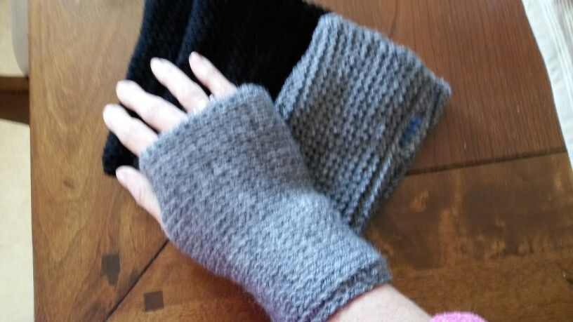 Reversible Tunisian Knit Stitch Crochet Fingerless Gloves Stuff I