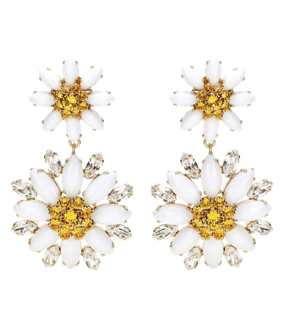 Dolce and Gabbana - Crystal-embellished clip-on earrings - Large crystals sparkle for an eye-catching touch to the elegant pair. - @ www.mytheresa.com