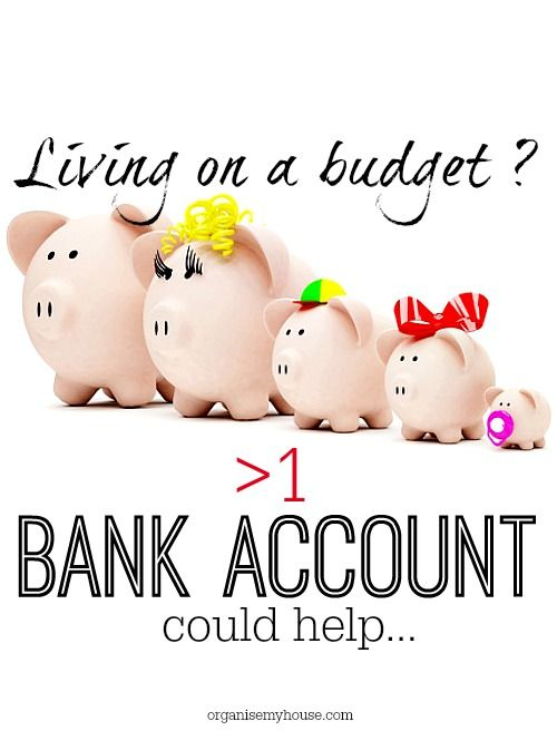 The key to living on a budget is being able to control your money as much as possible-having several bank accounts is key. Living on a budget can be simple!