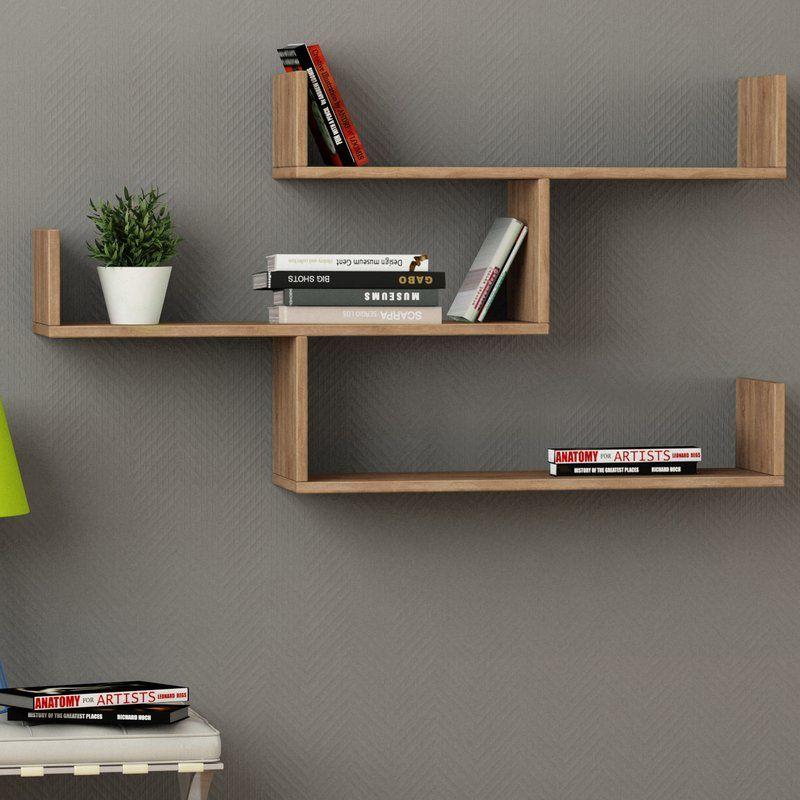 Mckenny Modern Wall Shelf In 2020 Wall Bookshelves Wall Shelves Design Shelves In Bedroom