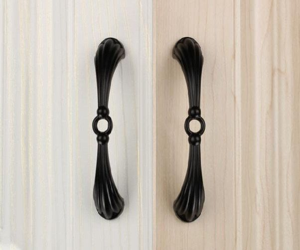 Black Dresser Pull Handles Drawer Knobs Handles / Retro Kitchen Cabinet  Knob Handle Pull Knob Antique