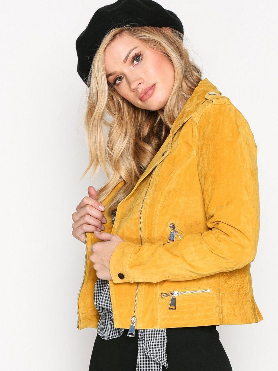 9ced06f2 VMROYCE SHORT SUEDE JACKET COL | Spring outfits | Jackets, Suede ...
