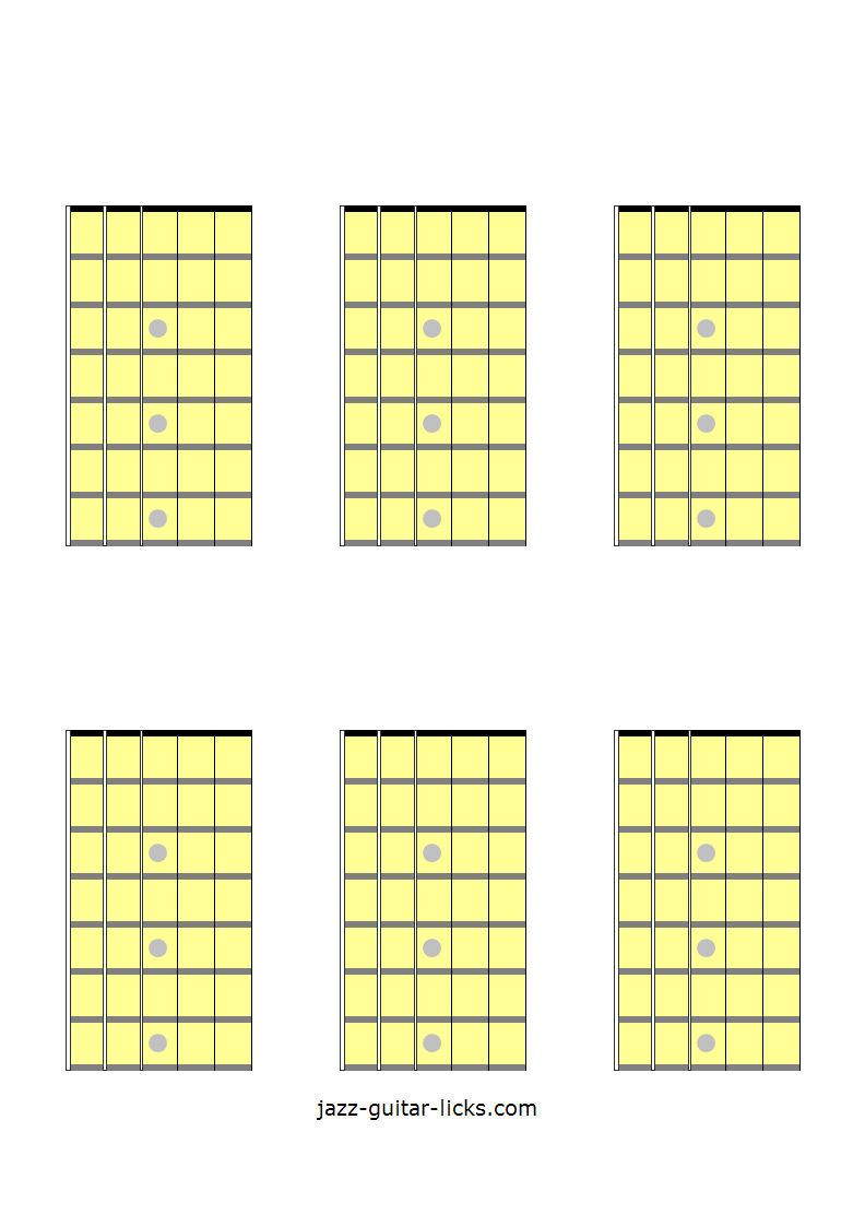 6 Blank Guitar Chord Diagrams Access Pinterest Guitar Chords