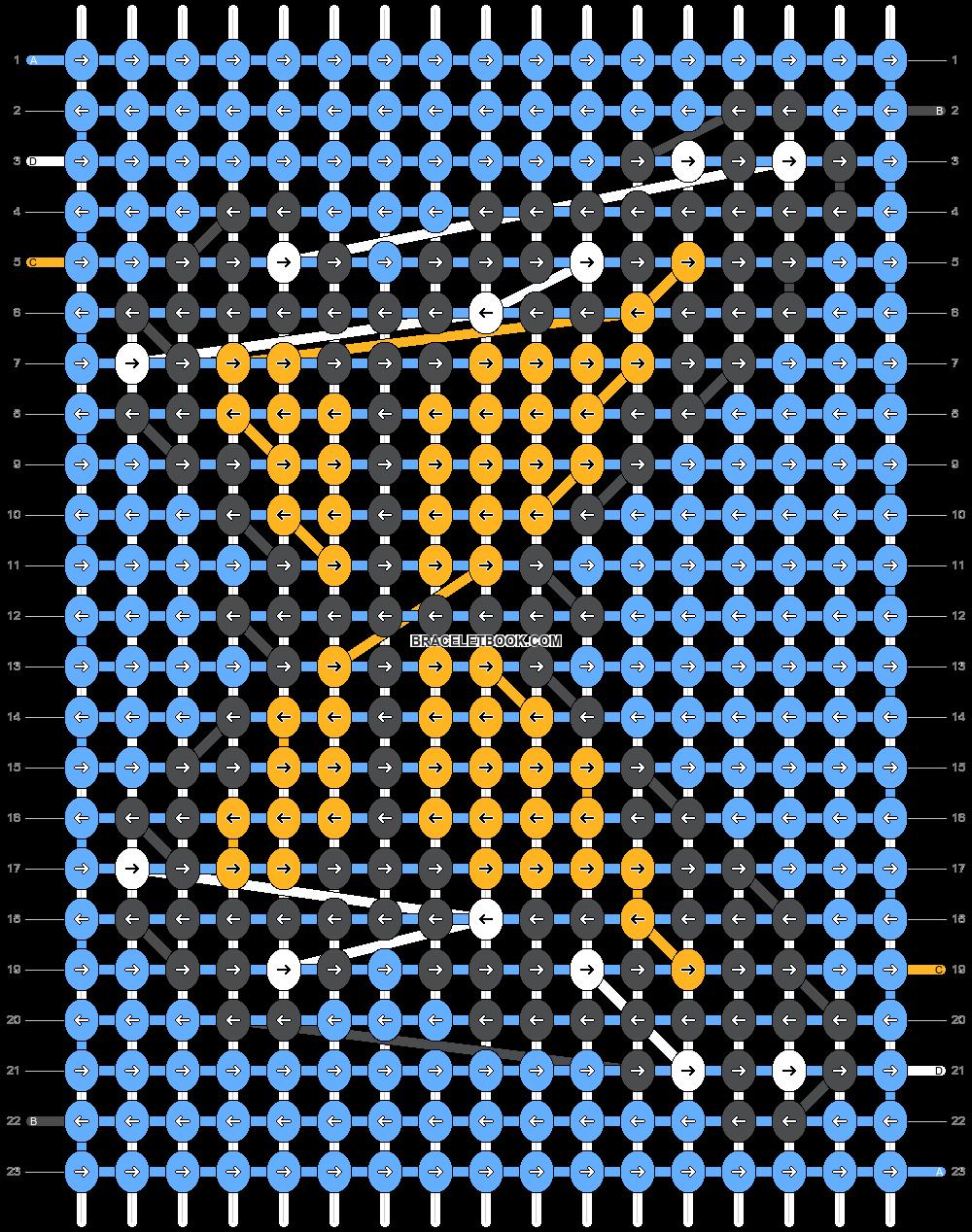 Alpha pattern #36818   BraceletBook in 2020   Diy ...