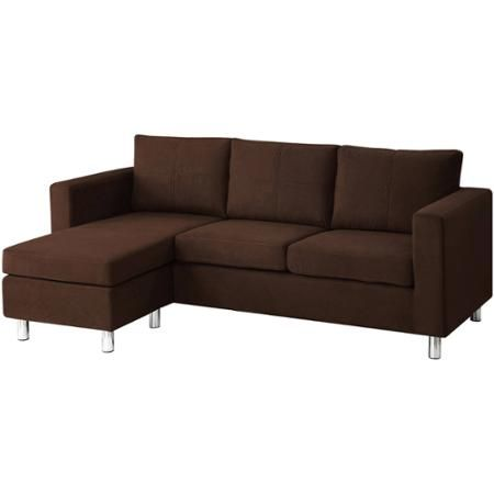 Small Es Configurable Sectional Sofa Chocolate