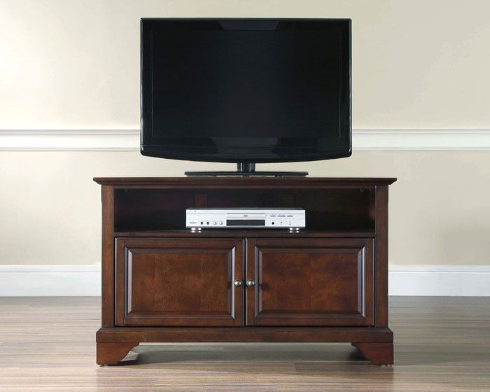 "Crosley Furniture KF BMA LaFayette 42"" TV Stand in Vintage"