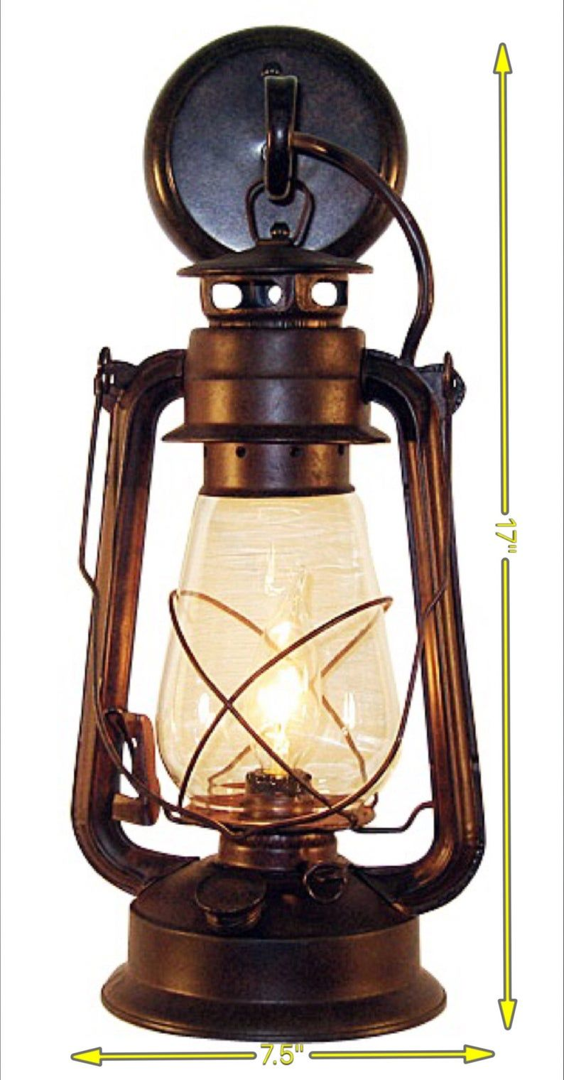 Hanging Lantern Electric Wall Sconce Oil Lantern Large Rustic By Muskoka Lifestyle Products With Images Rustic Lanterns Wall Mount Lantern Wall Mounted Light