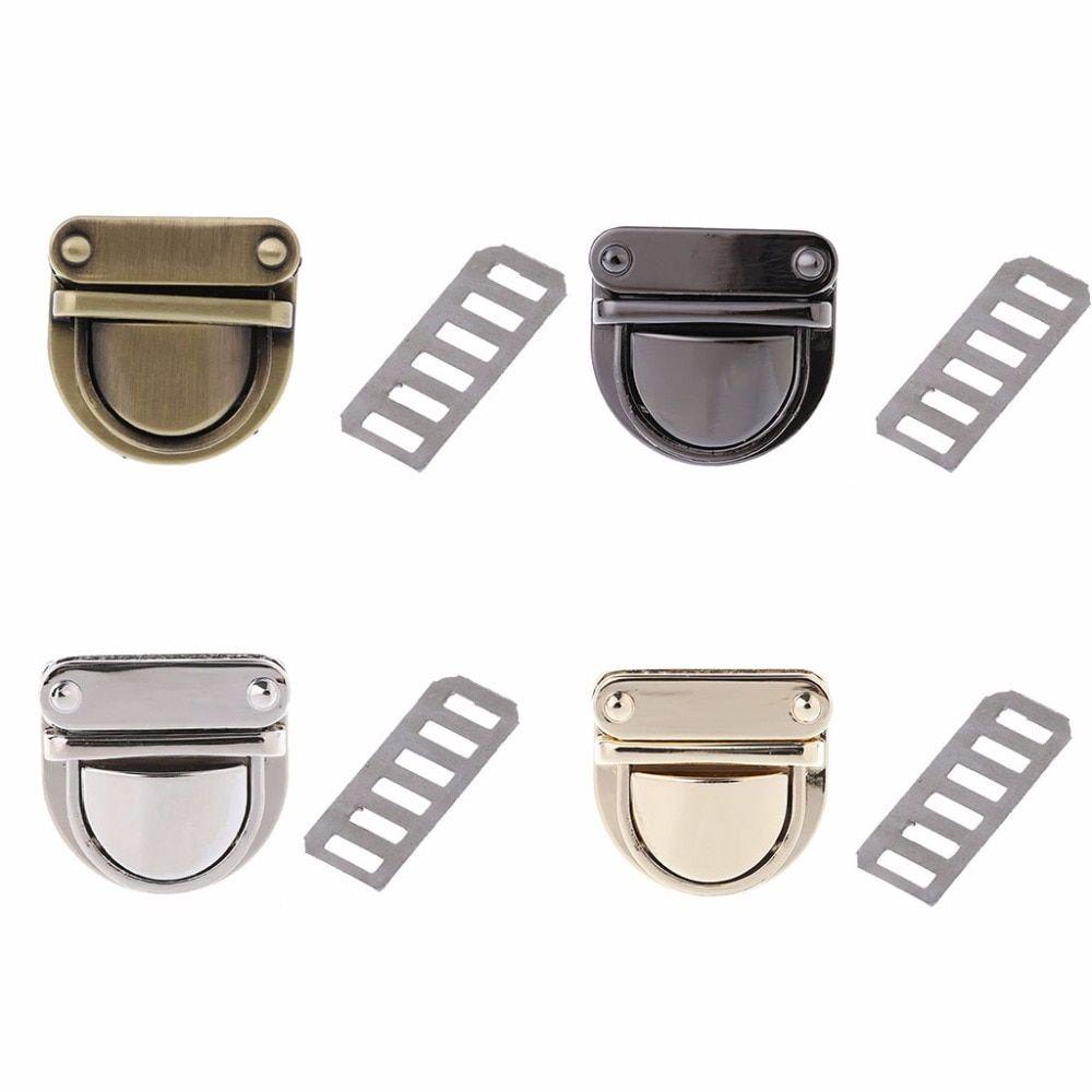 Metal Clasp Turn Twist Lock For DIY Craft Shoulder Bag Purse H bag Hardware