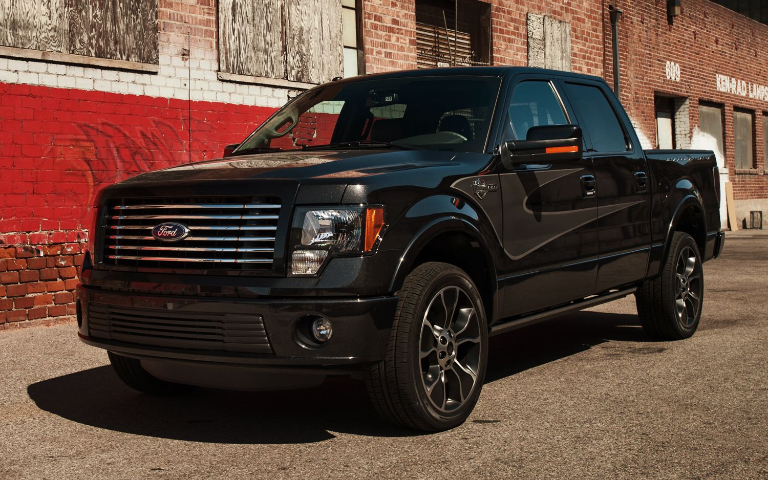 2012 Ford F 150 Supercrew Harley Davidson Edition Front Drivers Side