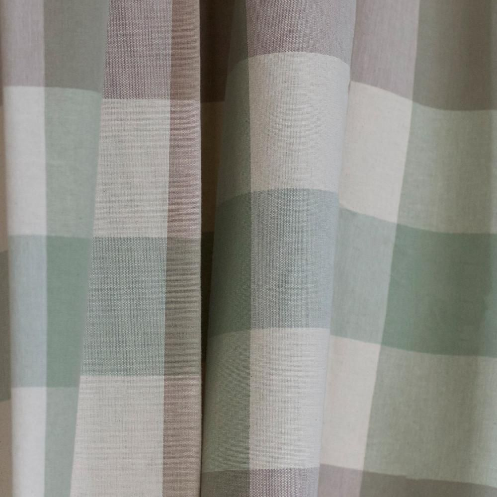 A Classic Buffalo Check In Putty Stone Cream And A Pale Sage Green Perfect For Drapery Roman Blinds Curtains Pillow Green Cushions House Blinds Green Rooms