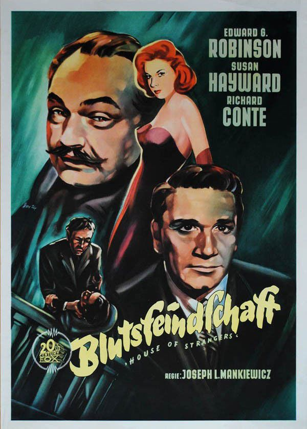Movie Poster Of The Week The Films Of Joseph L Mankiewicz On Notebook Mubi Above German Poster For House Of Strangers Movie Posters Noir Movie Film Noir