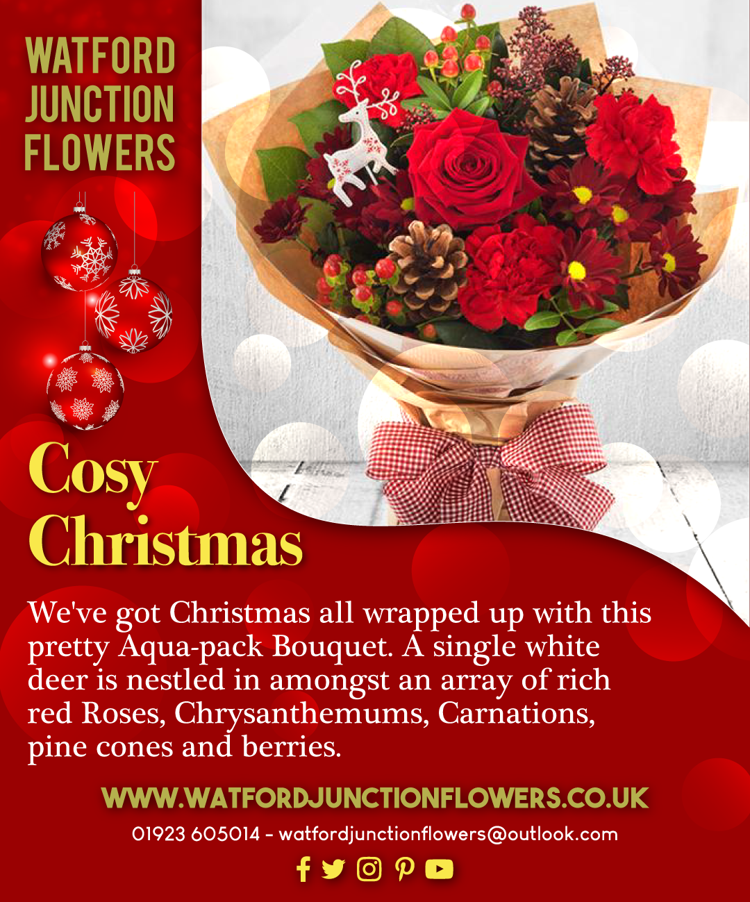 Cosy Christmas Flowers Bouquet Flowerbouquet Flowerpower Flowersfordays Loveforflowers Wedding Flowers Delivered Cosy Christmas Same Day Flower Delivery