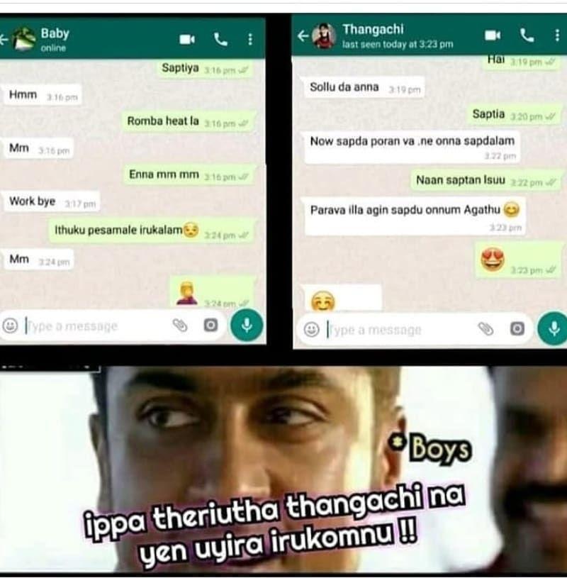 Instagram post by tamil memes • Aug 2, 2019 at 234am UTC