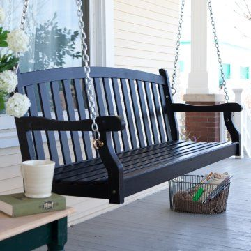 My grandma had this wonderful porch swing on this lovely front porch. It sat in front of a big picture window and we would sit there as kids and watch the traffic go by on what was one of the busiest streets in town. Since then, whenever I see a porch swing I smile inside.