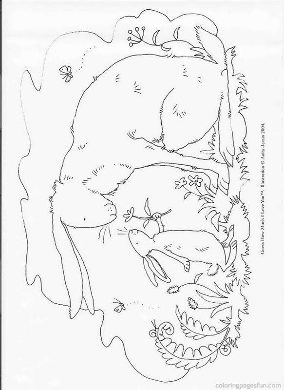 Guess How Much I Love You Sam Mcbratney Coloring Pages 1 Books I You Coloring Pages