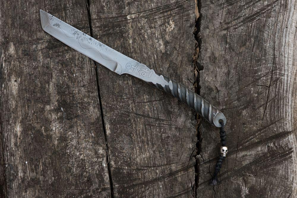 Hand repurposed rebar tanto knife by mark