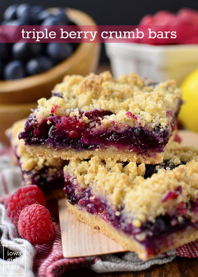 Triple Berry Crumb Bars Recipe Easy Gluten Free Desserts