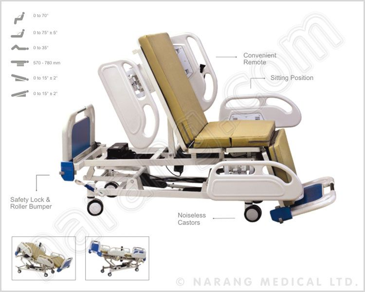bed electric six function with sitting position suppliers hospital beds icu hospital medical furniture
