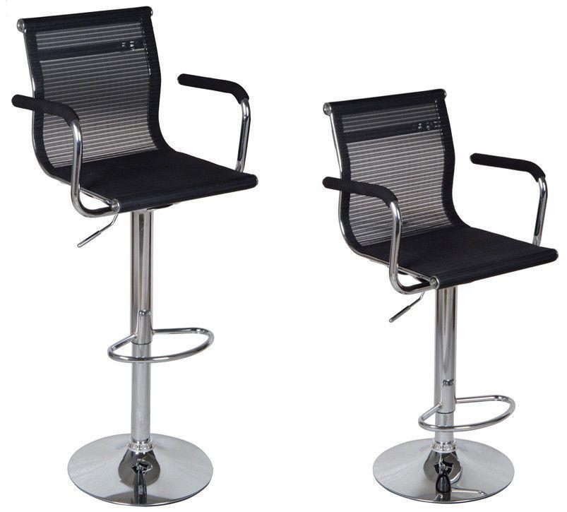 Ebay Black Bar Stools Mesh Modern Hydraulic Swivel Bar Pub Chair Barstool w Armrest