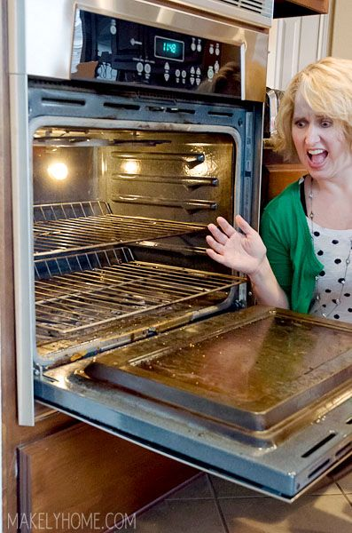 How to Clean an Oven Without Chemicals via MakelyHome.com