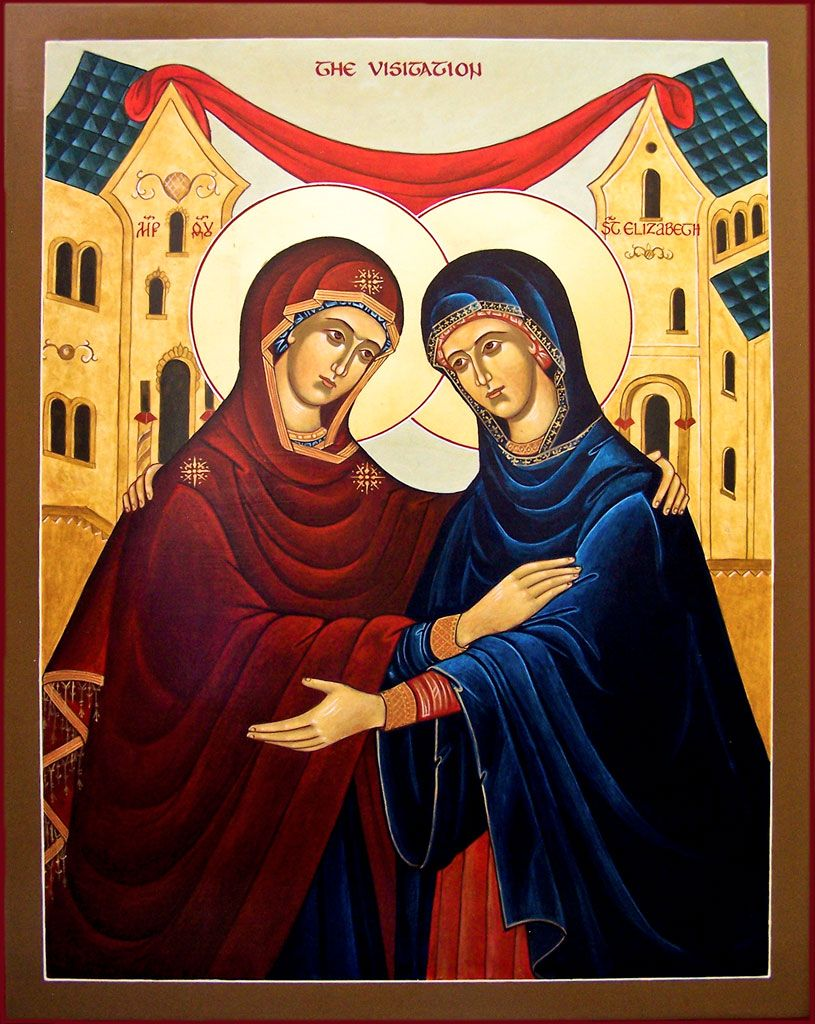 Image result for the blessed virgin mary meeting elizabeth