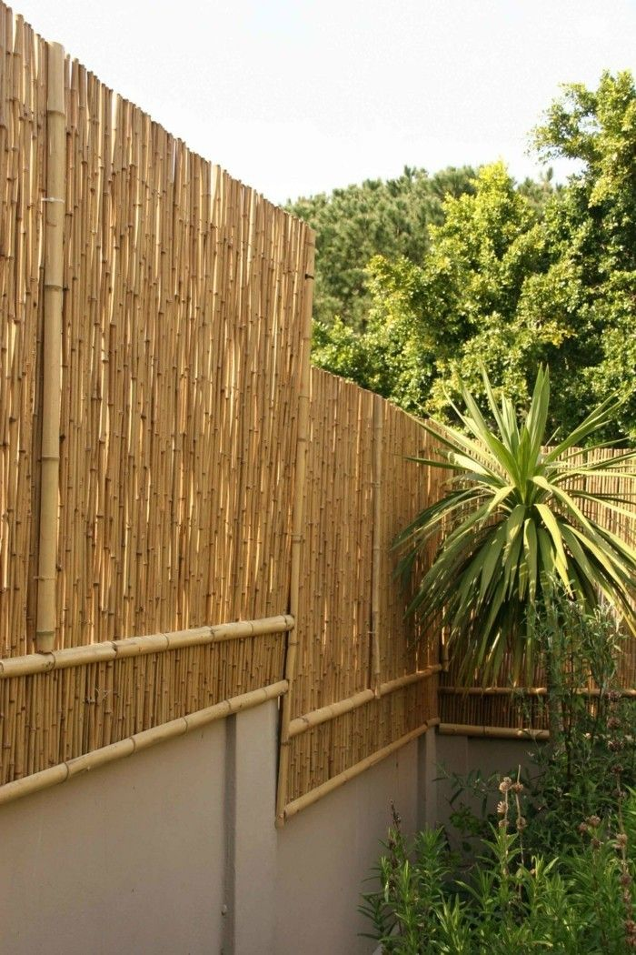 Garten Sichtschutz Bambus Garten Gestalten Ideen