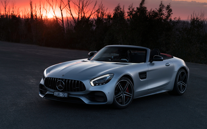Download Wallpapers Mercedes Amg Gt C Roadster 4k Sunset 2018