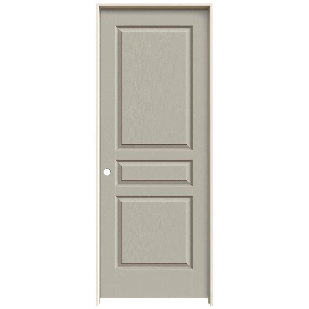 Jeld wen 30 in x 80 in avalon desert sand right hand - Single panel prehung interior doors ...