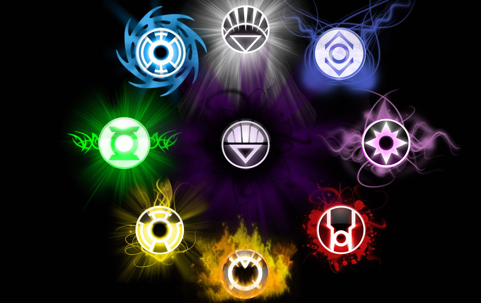 Lantern Corps Violet Lantern Indigo Tribe Red Lantern Yellow