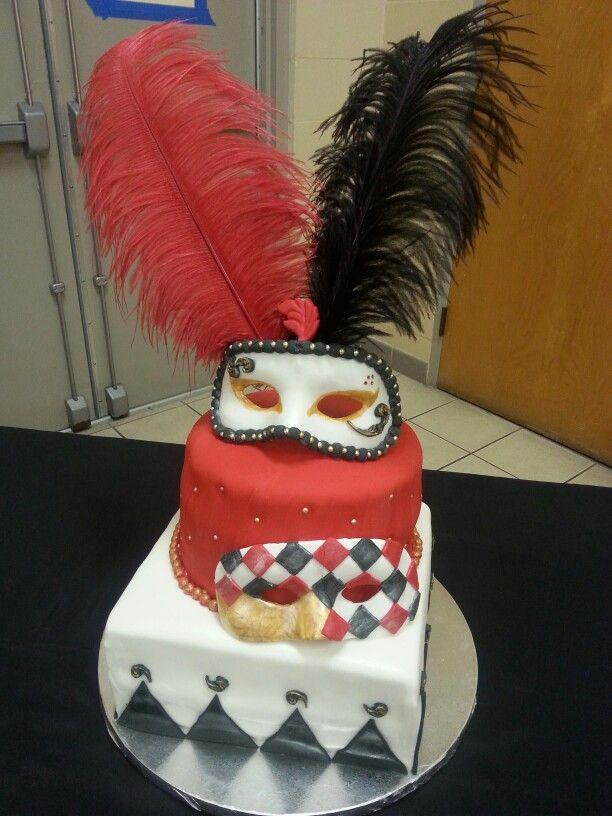 Masquerade Birthday Cake Jennifer Simmons Cake Designs Pinterest